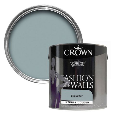 Crown Fashion For Walls® Etiquette Flat Matt Emulsion Paint 2.5L