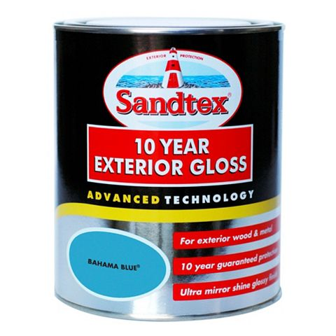 Sandtex External Bahama Blue Gloss Paint 750ml