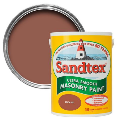Sandtex Brick Red Smooth Masonry Paint 1L