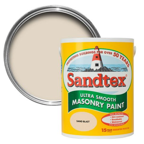 Sandtex Sandblast Cream Smooth Masonry Paint 5L