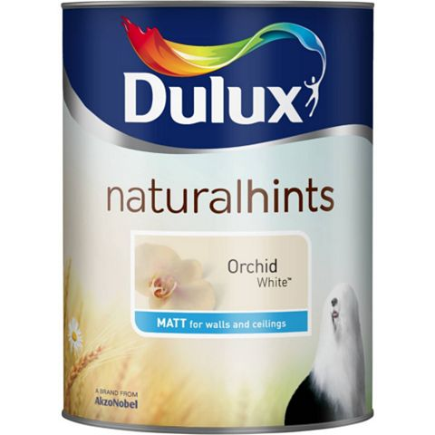 Dulux Emulsion Paint Orchid White, 5L
