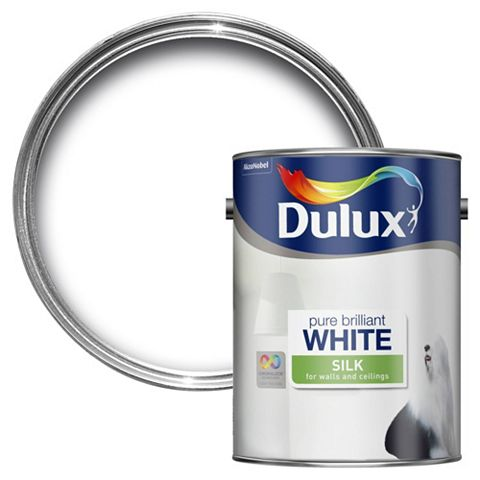 Dulux Pure Brilliant White Silk Emulsion Paint 5L