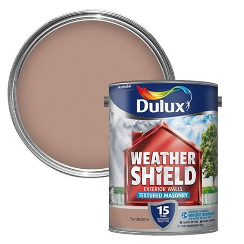 Dulux Weathershield Sandstone Textured Textured Masonry Paint 5L Can