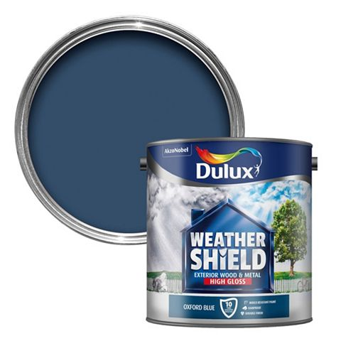 Dulux Weathershield Exterior Oxford Blue Gloss Wood & Metal Paint 2.5L