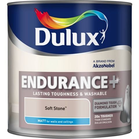 Dulux Endurance Soft Stone Matt Emulsion Paint 2.5L