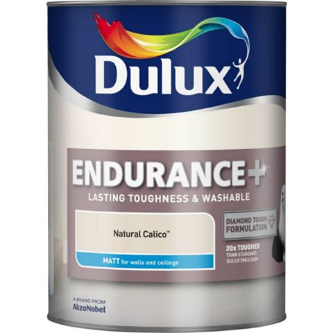 Dulux Endurance Natural Calico Matt Emulsion Paint 5L