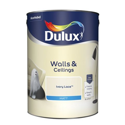 Dulux Emulsion Paint Ivory Lace, 5L