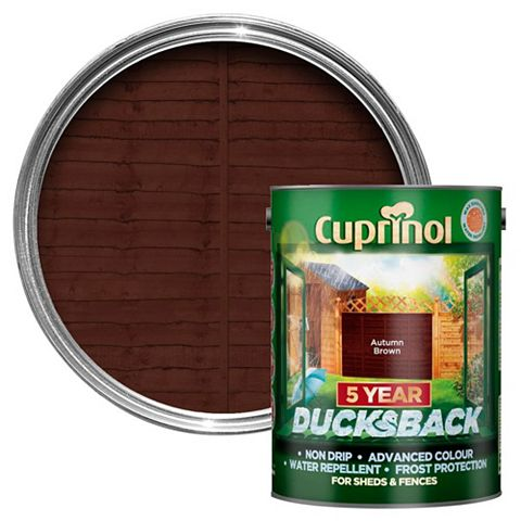 Cuprinol Shed & Fence Treatment Autumn Brown, 5L