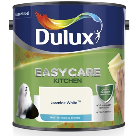 Dulux Kitchen Jasmine White Matt Emulsion Paint 2.5L