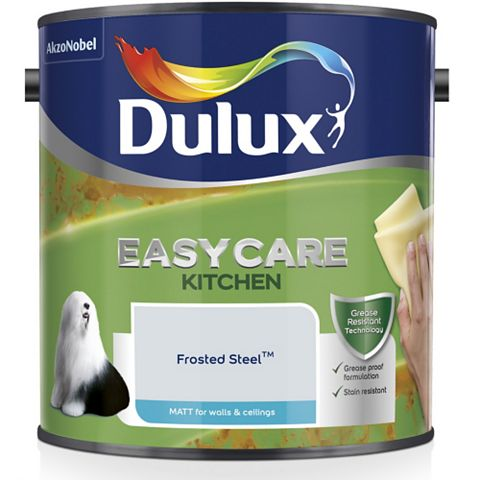 Dulux Kitchen + Frosted Steel Matt Emulsion Paint 2.5L