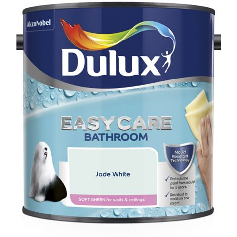 Dulux Bathroom + Jade White Soft Sheen Emulsion Paint 2.5L