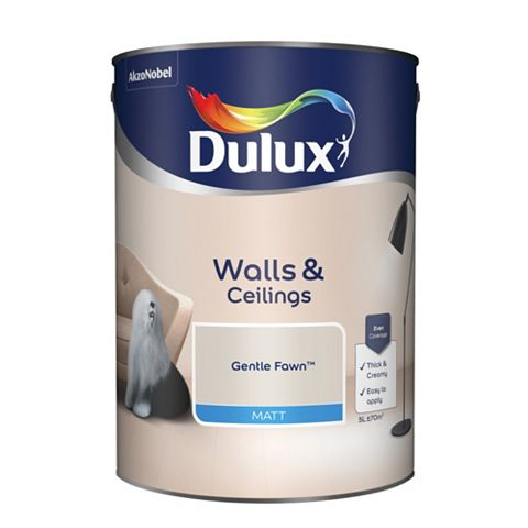 Dulux Emulsion Paint Gentle Fawn, 5L