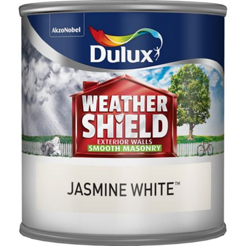 Dulux Weathershield Jasmine White Smooth Masonry Paint 250ml Tester Pot