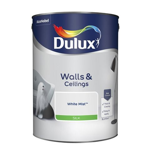 Dulux Emulsion Paint White Mist, 5L