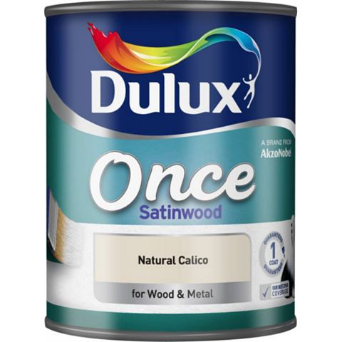 Dulux Once Interior Natural Calico Satinwood Paint 750ml