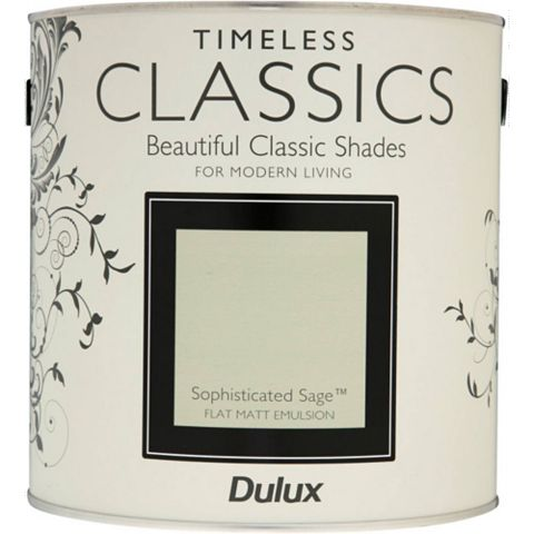 Dulux Timeless Classics Sophisticated Sage Matt Emulsion Paint 2.5L