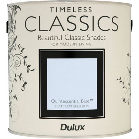 Dulux Timeless Classics Quintessential Blue Matt Emulsion Paint 2.5L