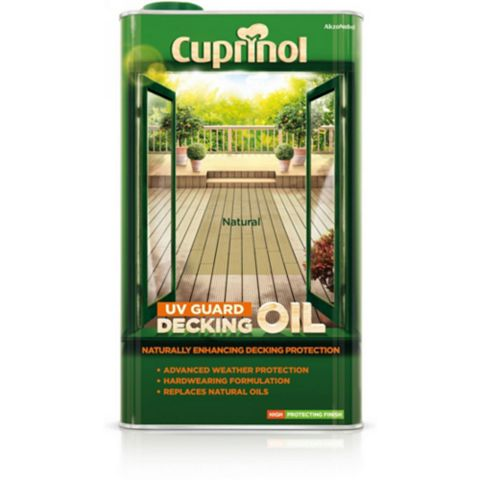 Cuprinol Uv Guard Natural Decking Oil & Protector 5L