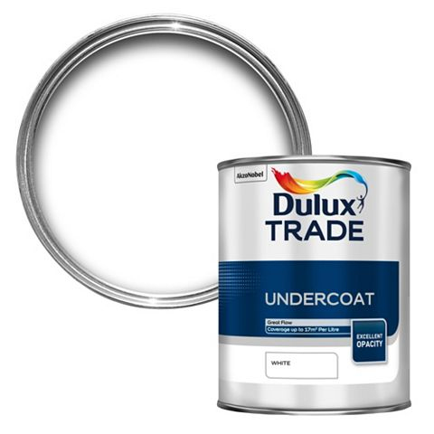 Dulux Trade High Sheen Primer & Undercoat White, 1L