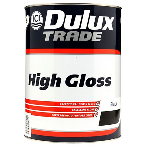 Dulux Trade Interior Black Gloss Paint 5L
