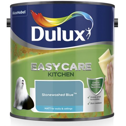 Dulux Kitchen Stonewashed Blue Matt Emulsion Paint 2.5L