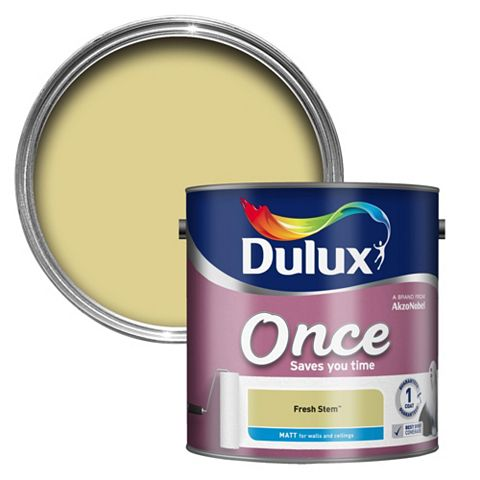Dulux Once Fresh Stem Matt Emulsion Paint 2.5L