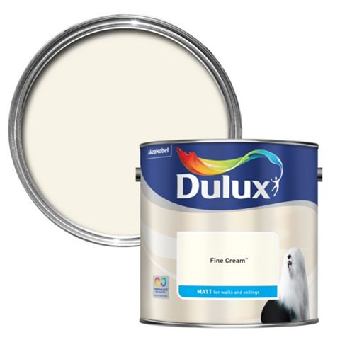 Dulux Standard Fine Cream Matt Paint 2.5L