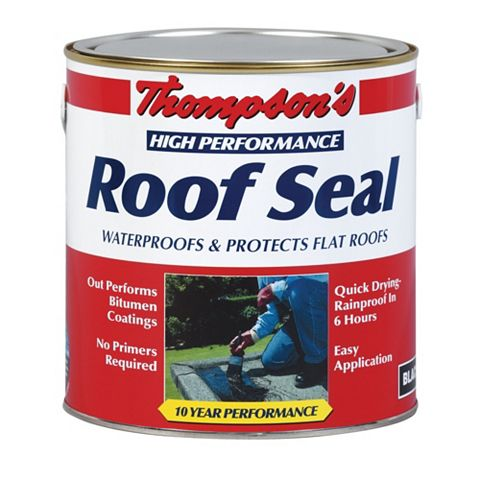 Thompson's High Performance Black Roof Sealant 4L