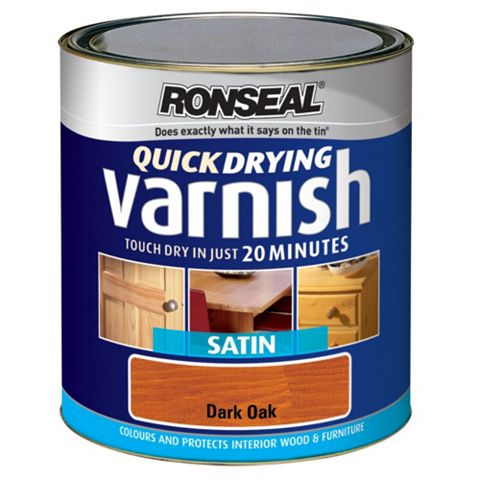 Ronseal Dark Oak Satin Wood Varnish 750ml