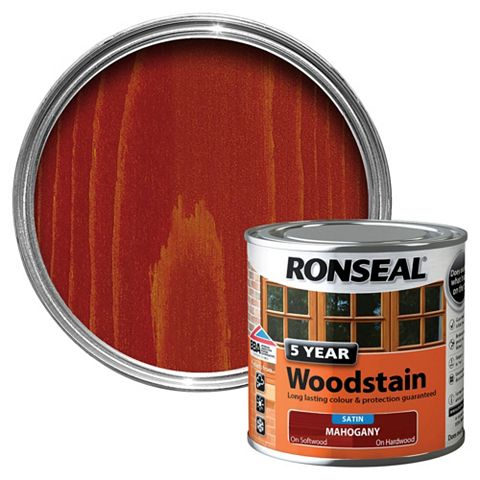 Ronseal Mahogany High Satin Sheen Wood Stain 250ml