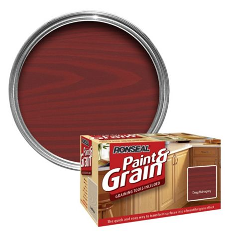 Ronseal Paint & Grain Deep Mahogany Special Effect Paint 1.5L