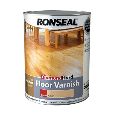 Ronseal Floor Varnish Clear, 5L