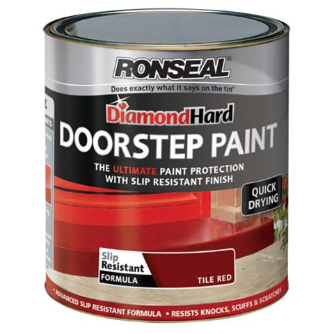 Ronseal Doorstep Paint Tile Red, 750ml