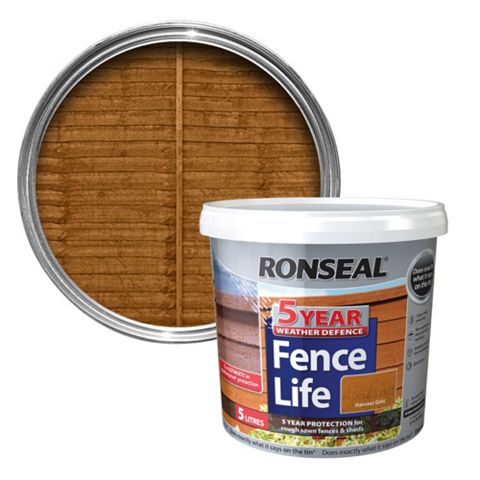 Ronseal Harvest Gold Matt Shed & Fence Stain 5000ml