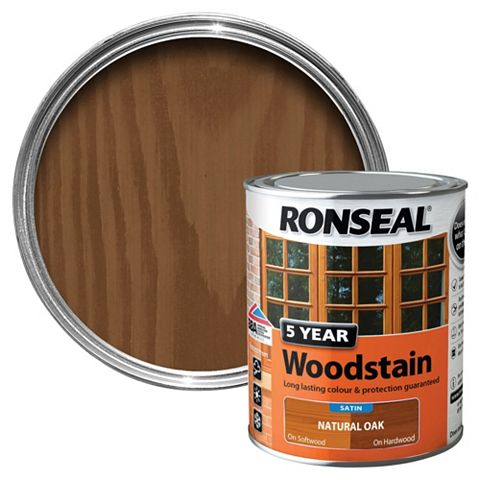 Ronseal Woodstain Natural Oak, 750ml