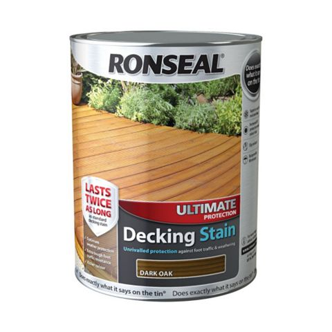 Ronseal Ultimate Protection Dark Oak Decking Stain 5L