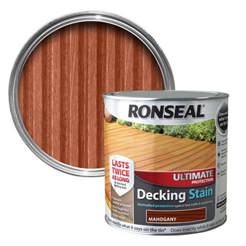 Ronseal Ultimate Mahogany Decking Stain 5L