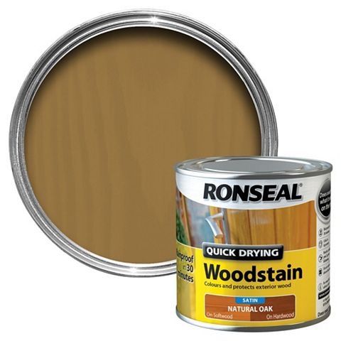 Ronseal Natural Oak Wood Stain 250ml
