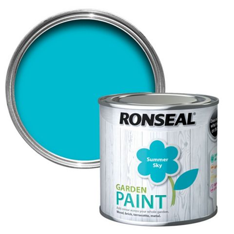Ronseal Garden Paint Summer Sky, 250ml