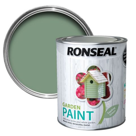Ronseal Garden Paint Sapling Green, 750ml