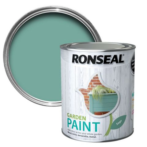 Ronseal Garden Paint Sage, 750ml