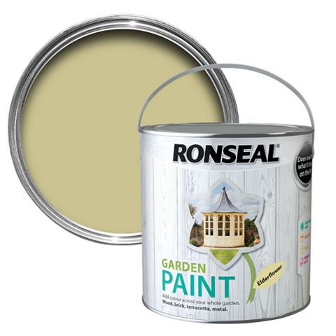 Ronseal Garden Elderflower Matt Garden Paint 2500ml