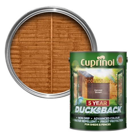 Cuprinol 5 Year Ducksback Harvest Brown Shed & Fence Treatment 5000ml