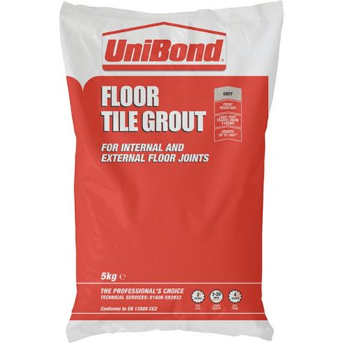 Unibond Powder Grout, Grey 5kg