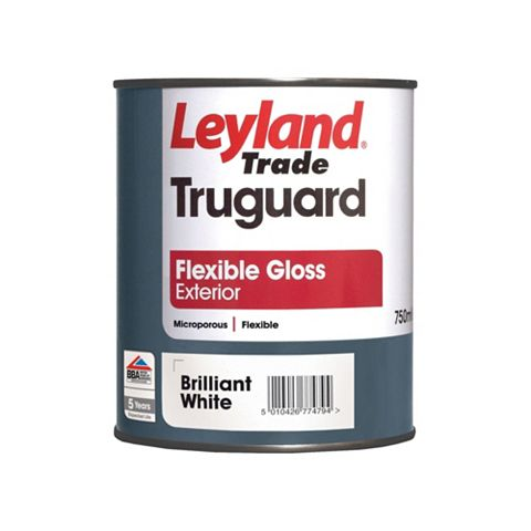 Leyland Trade Truguard External White Gloss Paint 750ml