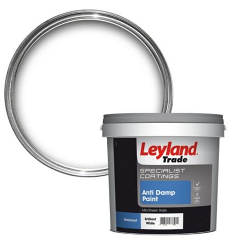 Leyland Trade White Mid Sheen Emulsion Paint 5L