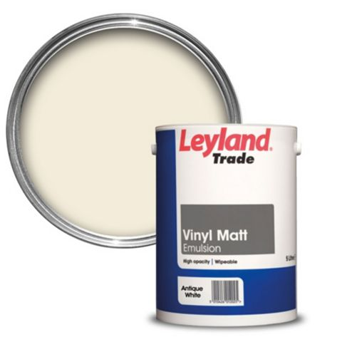 Leyland Trade Antique White Matt Emulsion Paint 5L