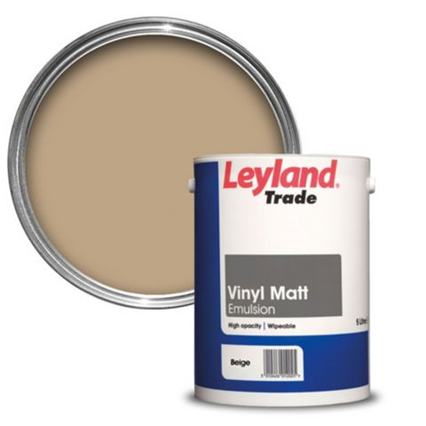Leyland Trade Pale Beige Matt Emulsion Paint 5L