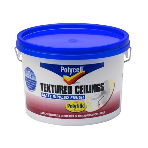 Polycell Polyripple White Matt Emulsion Paint 2.5L