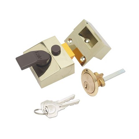 Yale 40mm Brass Effect Night Latch P-85-BLX-PB-40